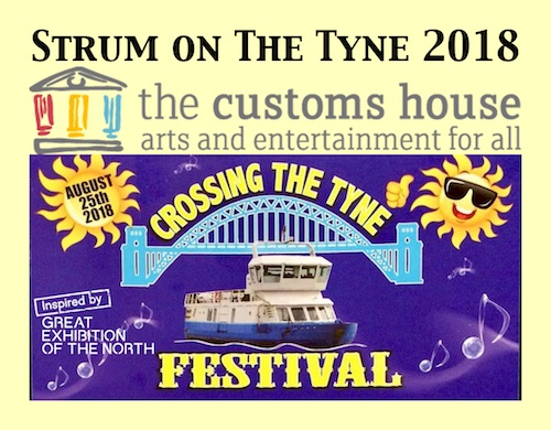 Strum on The Tyne + customs-house + Crossing the Tyne logos + border yellow 500x390