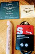 2018-08-25 Strum Raffle Prizes - Darren - strings whistle XLR cable