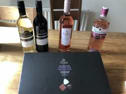 2018-08-25 Strum Raffle Prizes - Diane - booze and chocolates