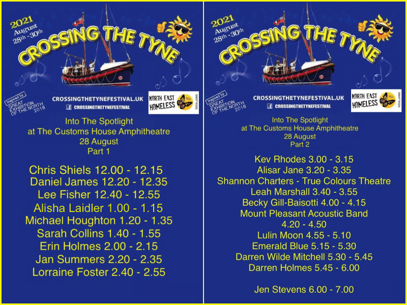 2021-08-28 CTTF Running Order Day 1 Sat 28th C Customs House 03 COLLAGE
