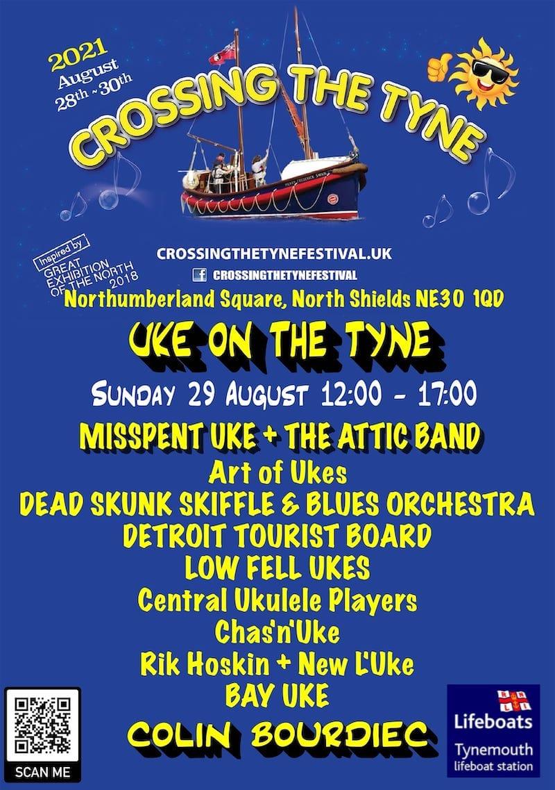 2021-08 Uke on The Tyne Poster + RNLI